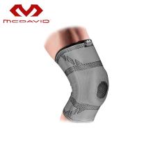 Mcdavid迈克达威护膝 男女运动健身篮球髌骨半月板损伤护具登山户外 5133R 浅灰色 S膝围30-36CM