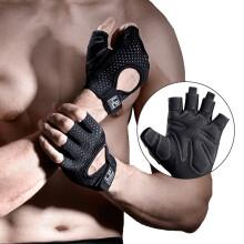 LP运动健身手套半指器械哑铃训练防滑透气骑行护掌护具男女士通用 FT9202-L