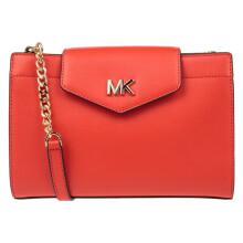 迈克・科尔斯(MICHAEL KORS) MK女包 MOTT系列牛皮革红色单肩斜挎包 35S0GOXC7L MANDARIN