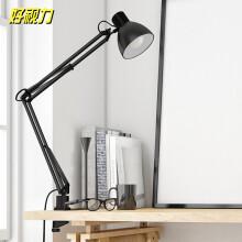 好视力美式复古夹式台灯客厅卧室宿舍床头书桌办公学习阅读led工作灯