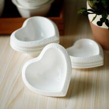 乐享 创意陶瓷餐具套装蛋糕盘零食点心盘 心形碗6件装 心形碗6件装