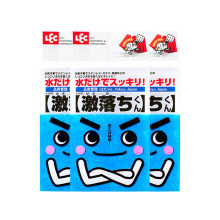 日本LEC丽固纳米海绵魔力擦清洁去污厨房魔术海绵块洗碗 擦鞋神器 3包(整块装)