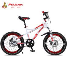 凤凰(Phoenix)儿童自行车18英寸单速青少年赛车中小学生山地车碟刹减震款战神  黑红色 22寸21速动感男孩