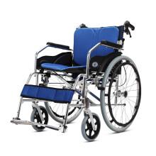 凯洋 高品质铝合金轮椅折叠轻便老人残疾人便携手推车代步轮椅车双重坐垫