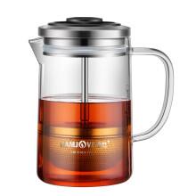 金灶(KAMJOVE) 小青柑 红茶专用冲泡茶壶耐热玻璃茶具飘逸杯 电陶炉可用煮茶器黑茶壶 A75/380ML