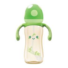 京东超市乐儿宝(bobo)奶瓶 PPSU防摔奶瓶 宽口径带手柄吸管变流量奶嘴330mL-绿色