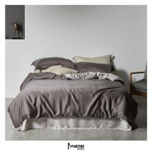 魅可 60双面莱赛尔天丝简约时尚风格工艺款双拼款 床上用品 被套床单套件 预售款3-7天发货 卡特 1.5床200X230