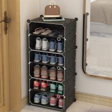 京东超市 蔻丝防尘鞋架多层鞋柜现代简约组装简易储物收纳柜 经典黑花