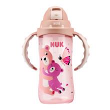 京东超市NUK婴儿儿童宝宝吸管杯翻盖双手柄PP学饮水杯12个月以上300ml 粉色