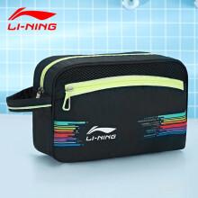 李宁 LI-NING干湿分离游泳包 男 女 收纳泳包防水包 750黑 花色升级款