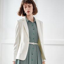 颜域简约西装外套女2020春装时尚减龄气质职业修身显瘦小西服 白色 L/40
