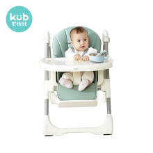 可优比(KUB) 诺拉餐椅宝宝餐椅子吃饭可折叠便携式婴儿餐桌椅座椅多功能儿童餐椅旗舰款-浅青色-可折叠易收纳