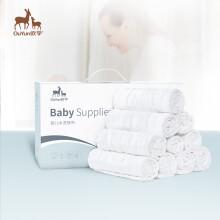 京东超市 欧孕 婴儿纱布尿布新生儿纯棉布尿片可洗尿戒子 6层泡泡纱尿布18条装