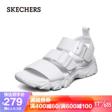 Skechers斯凯奇时尚休闲女士外穿凉鞋魔术贴沙滩鞋32998 白色 35