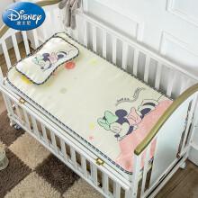 京东超市 迪士尼宝宝(Disney Baby)婴儿凉席儿童冰丝席宝宝午睡婴儿床凉席枕头夏季儿童凉席两件套 粉色米妮120*60cm