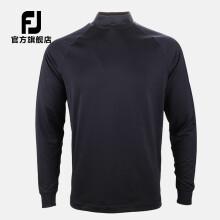 FootJoy高尔夫服装男装新款FJ长袖golf加绒保暖套头衫 83048夜鹰黑 XXL