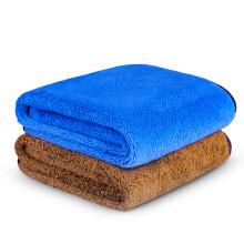 京东超市 佳百丽 加厚大号洗车毛巾160*60cm 细纤维吸水擦车毛巾 洗车布 抹布汽车用品 2条中号(35*70cm)