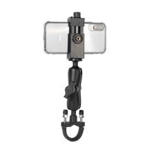 奇叶 支架固定摩托车自行单车手机适用大疆Osmo action运动相机GoPro9灵眸Pocket2 车把固定支架+手机夹
