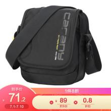 卡拉羊男士休闲包极简潮流单肩包随身小包韩版轻盈时尚斜挎包CX4008黑色