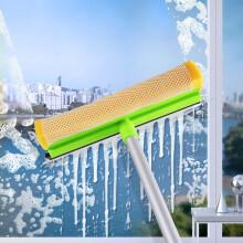 卡饰社(CarSetCity)多功能玻璃刮水器 双面擦窗器擦玻璃神器 长铝杆家用清洁工具 绿色
