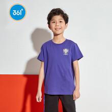 361°361度男中大童卡通短袖T恤2020新款圆领儿童短袖针织衫ZYN52023203 古代紫3203 150