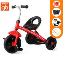 好孩子(gb) 儿童三轮车儿童车1-2-3-4岁童车宝宝三轮脚踏车男童女童三轮自行车幼儿幼童玩具车 SR130-H001R红色