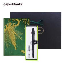 【paperblanks】经典限定礼盒套装 送师长女友闺蜜情人节礼物 橄榄仙女中有线+钢笔+黑色礼品盒