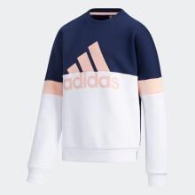 adidas阿迪达斯2020冬季女大童卫衣加绒GP7217学院藏青蓝/朦胧珊瑚粉/白A164/建议身高164cm