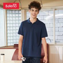 班尼路(Baleno)polo衫男装休闲百搭净色POLO 08B深蓝