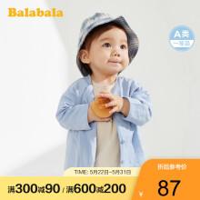 巴拉巴拉balabala男宝宝潮装婴儿外套女童衣服2020新款洋气童装小开衫薄款 灰蓝8220 80cm