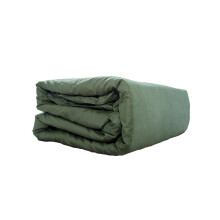 福花家纺 三件套单身宿舍军绿色1.2米床单人三件套被套160*210