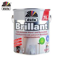 都芳(DUFA) 都芳漆 德国进口生态内墙乳胶漆 水性油漆涂料 墙面漆白色 5L