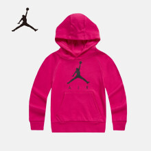 京东超市Nike Air Jordan 耐克大童装春秋连帽卫衣男女童套头上衣杜鹃红尺码150/68/M货号JD932144GS-001