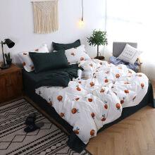 钰伶 床上被套床单简约水洗棉学生宿舍用品单双人4三件套 可爱枇杷 1.5米(四件套)