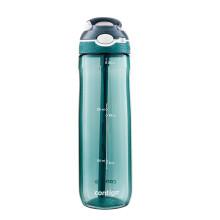 美国contigo康迪克 塑料水杯锁扣夏季运动吸管杯750ML绿色HBC-ASH137【2020年新款】