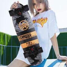 京东超市运动伙伴 四轮滑板成人男女青少年初学者小鱼板儿童滑板车专业刷街代步大鱼板 One Star