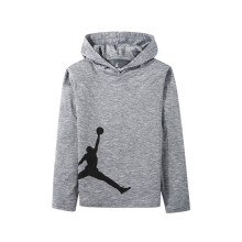 京东超市耐克(Nike Air Jordan)童装儿童连帽套头卫衣秋季男童长袖外套JD932192GS-001 浅狼灰160(L)