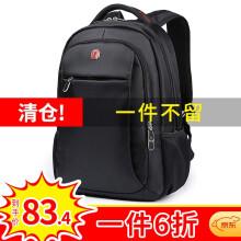 SWISSGEAR电脑包  瑞士双肩包 男士背包14.6-15英寸笔记本包出差旅行包SA-9393III黑色学生书包 7719【商务休闲14.6英寸】
