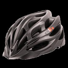 MOONSTUDIO自行车公路骑行山地车头盔一体成型男女单车装备安全帽自行车配件升级版 升级版哑黑色  M(55-58CM)