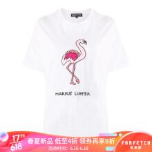京东国际MARKUS LUPFER 女士 佛烈鸟印花T恤 白色 M
