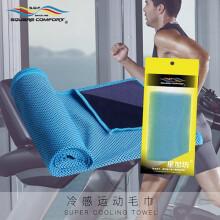 飞雄冷感运动毛巾瑜伽健身跑步吸水巾冰凉毛巾迅速降温吸汗巾速干毛巾FX-1天蓝色