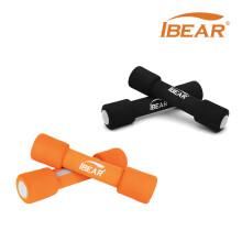 IBEAR(伊贝尔)泡棉哑铃1.5kg(0g*2)女士家用瑜伽跳操锻炼健身器材学生儿童运动Y-003 黑色