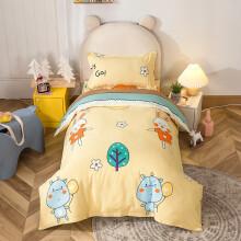 迷人居宝宝儿童幼儿园被子三件套纯棉幼儿午睡被褥被套婴儿床床上用品 玩趣(被套120x150m+垫套60x120cm+ 其它