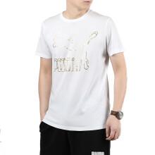 彪马 PUMA 男子 生活系列 Classics Logo Tee 短袖T恤 596535 62彪马白 L码 (亚洲码)