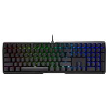 樱桃(Cherry)MX3.0S RGB G80-3874LSAEU-2 机械键盘 有线键盘 全尺寸游戏键盘 无钢板RGB灯效 黑色 青轴