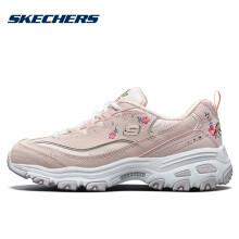 斯凯奇(Skechers)时尚休闲女款 潮流绣花熊猫鞋 11977 浅粉色/LTPK 38