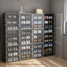 蔻丝大鞋柜超薄组装鞋架多层鞋子收纳架透明门款