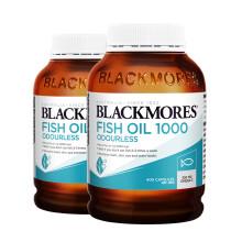 京东国际澳佳宝Blackmores  高浓度深海鱼油软胶囊400粒 含Omega-3 DHA EPA 无腥味 2件装 澳洲进口
