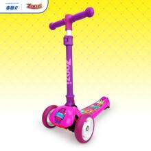 京东超市 麦斯卡迪士尼儿童滑板车 2-3-6岁小孩摇摆车 三轮闪光可拆卸宝宝踏板车 汽车总动员 4档时尚款-紫红
