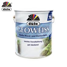 都芳(DUFA) 都芳漆 德国进口吉欧内墙乳胶漆 水性油漆涂料 墙面漆白色套装15L【调色漆 厂家直送】定制品 【厂家自送】5L单桶-调色漆